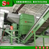 Double/DEUX/Twin destructeur de l'arbre avec Rotory Trommel/à recycler les déchets de pneus de la grille