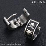 Oorring huggies-91962 van de Juwelen van het Roestvrij staal van het Skelet van de manier Koele Silver-Plated