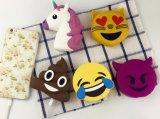 Côté bon marché en bloc de vente chaud de pouvoir d'Emoji de la licorne 2017 2600mAh pour la crême d'ananas de pizza et glacée