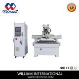 Maquinaria do gravador do CNC com o auto eixo da mudança