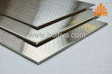 Material composto decorativo interno interno interior ao ar livre externo exterior de aço inoxidável