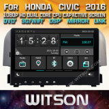 Lettore DVD stereo radiofonico di Witson Windows per Honda Civic 2016