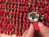 Рукоятка миниого шарикового клапана нержавеющей стали 316 красная (NPT или BSP)