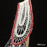 les Appliques hydrosolubles blancs DIY de collier de lacet de broderie de maille de piste de coton de motif d'Applique de collier de lacet de broderie de 31*24cm cousent le lacet Hm2019 décoratif de vêtements