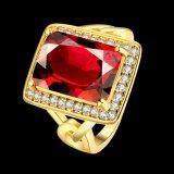 Elegante Ring voor Juwelen van het Huwelijk Zircon van Vrouwen de Goud Geplateerde