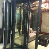 Puerta deslizante de la puerta Bi-Fold de aluminio con el vidrio endurecido doble