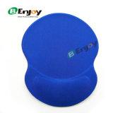 Almofada de rato feita sob encomenda do descanso de pulso do gel da cor azul lisa com preço barato