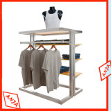 Piso madeira roupas roupas suporte de monitor do Mostrador