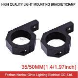 Support d'aluminium du noir 35mm/50mm pour la barre d'éclairage LED (polonais SG007)