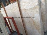 クリーム色ベージュ大理石のタイルの金くもの大きい大理石の平板