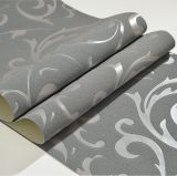 Papier de mur, Wallcovering, décor de mur, tissu de mur de PVC, feuille de plancher de PVC, papier peint de PVC de peau de daim de la peau de daim 3D