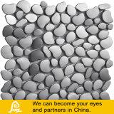 Venta caliente mezcla de metal plateado de piedra gris Crytal mosaico de vidrio