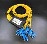 광섬유 Gpon 원거리 통신 1X32 플라스틱 상자 PLC 쪼개는 도구