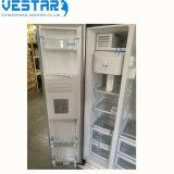 Refrigerador side-by-side do indicador de 4 frutas e verdura da porta