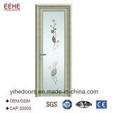 Porte en aluminium intérieure personnalisée en verre de bâti