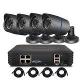 4CH 1080P 15V 1.0MP NVR cámaras IP de Poe HDMI P2P.