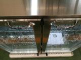 반대 전시 맥주 냉각기의 밑에 2개의 문 뒤 바 또는 고품질을%s 가진 맥주 병 냉장고