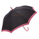 Зонтик красного и черного дождя цвета прямой
