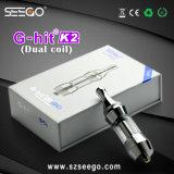 Énorme Seego OEM personnalisé de vapeur de gros de G-Hit K2 Antenne double Vaporisateurs de plumes