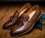 Черный велюр лакированная кожа Tassel повседневная мужская мода обувь