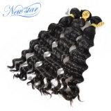 ベストセラーの安い価格のインドの緩い波100%の人間の毛髪の束