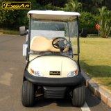 Branca de 2 lugares de carga elétrica de forma côncava carrinhos de golfe