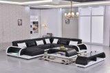 중국 현대 디자인 진짜 가죽 거실 법정 소파