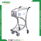 Hand Push Trolley Aluminum Airport Trolley with Brake
