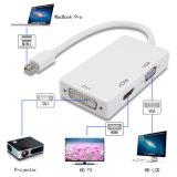 Fabrik-Preis für 3 in 1 Minibildschirmanzeige-Kanalthunderbolt-DP HDMI DVI zum VGA-Adapter
