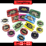 Anti-Counterfeiting / Microplaquetas de cristal do póquer com o casino Chipss da imagem do tigre (YM-CP020-21)