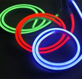 cabo flexível de néon impermeável do diodo emissor de luz do mini tamanho IP67 de 120LEDs/M para a decoração ao ar livre do Natal