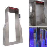 No caminar a través de contacto automático de desinfección de la puerta de seguridad termómetro con neblina de pulverización