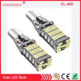 백업 반전 빛을%s Canbus 정상 가동 921의 912의 T10 T15 Ak-4014 45PCS Chipsets LED 전구