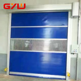 Interiores rápidos do PVC da sala de limpeza elétrica rolam acima a porta