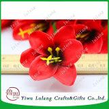 Simulación de Rosa Orchid jefes jefes de la flor de seda para Decoraciones de boda
