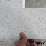 Surface solide blanche de glacier en pierre artificiel de Kkr