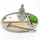 Китайский Фэн-Шуй мини-дзен сад статуи Большого Будды для Divination