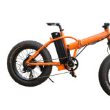 E-Bici plegable eléctrica de la nieve de la batería de litio con el neumático 20*4.0