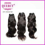 普及した高品質100%の人間のインドの毛の自然な波