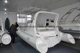 Opblaasbare Boot van de Rib van de Motor van Panga van de Glasvezel van Liya 22FT de Kleine