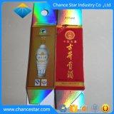 Couleur personnalisée holographique de boîte d'emballage en carton de papier cosmétique