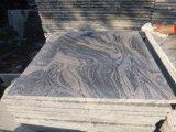 La pierre naturelle Juparana poli d'onde de lumière/mer/flammé/perfectionné un revêtement de sol de Granite Tile/paver tuile