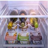 Crémaillère modulaire de mémoire de vin de fil en métal de 3 bouteilles de Minghou pour le réfrigérateur