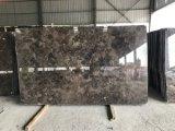 Lajes Polished de mármore escuras de Emperador do bom preço de China
