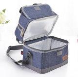 Двойная дека алюминиевых изолированный обед Bag сумка охладителя тепловой защиты сумки