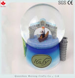 Изготовленный на заказ глобус воды смолаы глобуса снежка Италии подарков сувенира смолаы