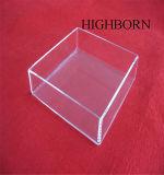 カバーなしで明確な水晶皿を溶かす高品質純度の長方形