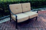 余暇の庭の鋳造アルミのLoveseatの家具