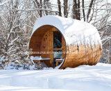 Sauna canadense do tambor do cedro vermelho da sauna portátil para o jardim