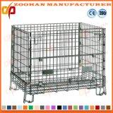 Промышленная Stackable гальванизированная сваренная стальная клетка хранения ячеистой сети (Zhra24)